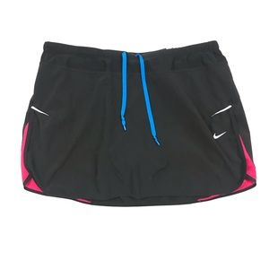 Nike Dri-Fit Black Logo Back Athletic Skort